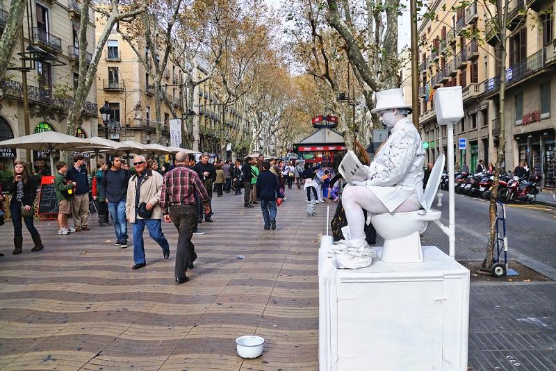 la-rambla-faire-barcelone