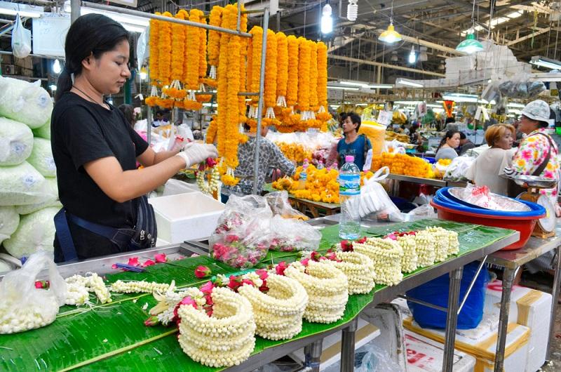 Bangkok-marche-fleur-visite-gratuite
